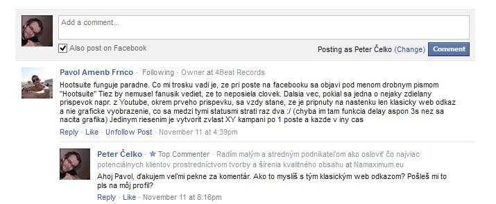 ako propagovať blog cez facebook komentáre