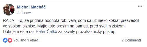 """""""Ďakujem ešte raz Peter Čelko zaskvelý prozákaznícky prístup"""""""